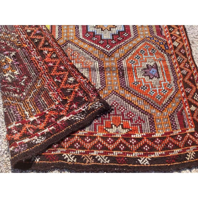 Vintage Turkish Kilim Rug - 5′6″ × 10′ For Sale In Raleigh - Image 6 of 6