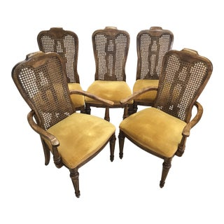 Century Furniture Hibriten Cane Back Dining Chairs - Set of 5