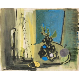 'Still Life With Carafe' by Miles R. Hodson, 1954; Herron School of Art For Sale