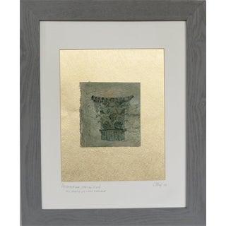 Vintage Framed Oil Fresco on Linen Fragment. 1988. C. Damien Fox For Sale