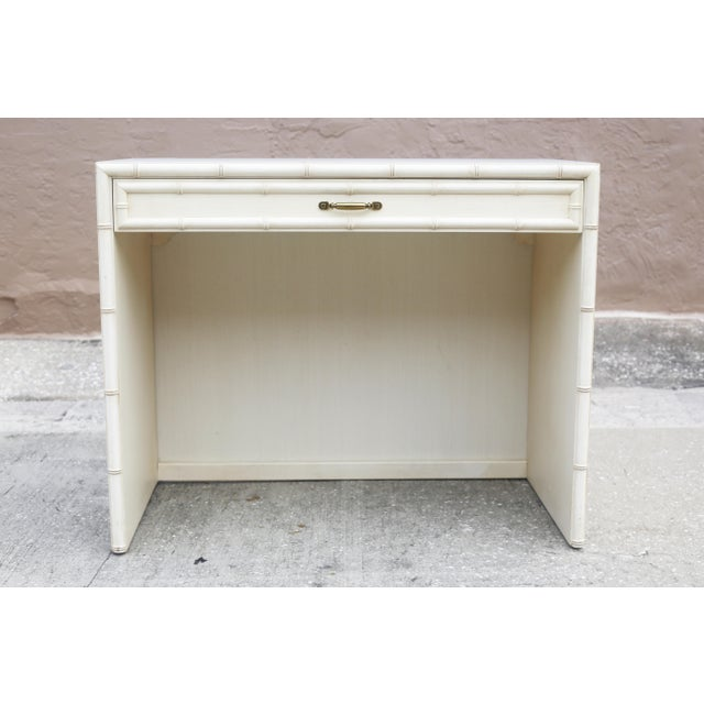 Vintage Dixie Faux Bamboo Writing Desk For Sale - Image 10 of 12
