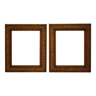 Antique Carved Wood and Gesso Grapevine Motif Picture Frames - a Pair For Sale