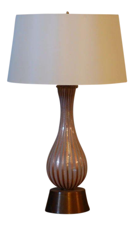 Incredible Tall Murano Glass Table Lamp By Dino Martens For