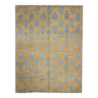 "Hand Knotted Ikat Rug by Aara Rugs Inc. 9'1"" X 12'1"" For Sale"
