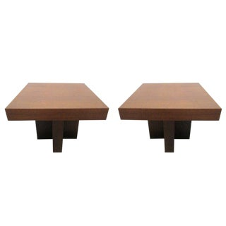 Pair of Walnut Occasional Tables by Milo Baughman