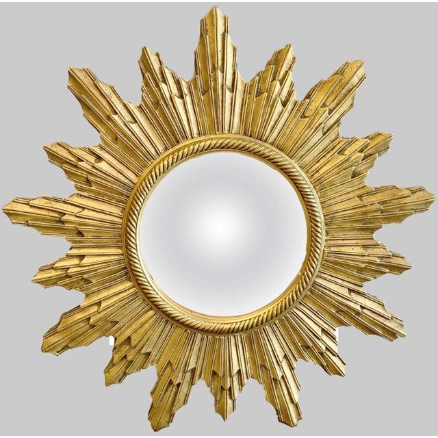 Gold Louis XIV Sunburst Mirror For Sale - Image 8 of 8