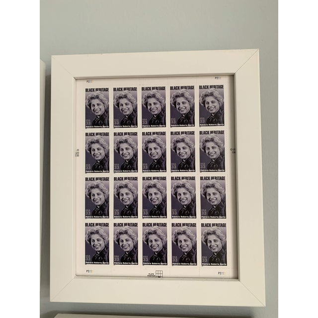 American Late 20th Century Black Heritage Month Framed Stamp Collection - 6 Pieces For Sale - Image 3 of 8