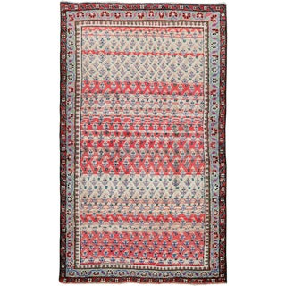 """Vintage Persian Mahal Rug – Size: 2' 7"""" X 4'5"""" For Sale"""