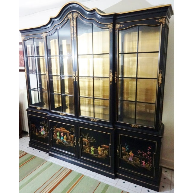 Vintage Gold Leaf Hand-Painted China Cabinet - Image 3 of 6