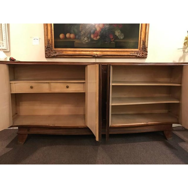 Brown 1930s Vintage Palatial Art Deco Gaessiar Ebenistes French Sideboard For Sale - Image 8 of 10