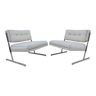 Harvey Probber Chrome Lounge Chairs For Sale