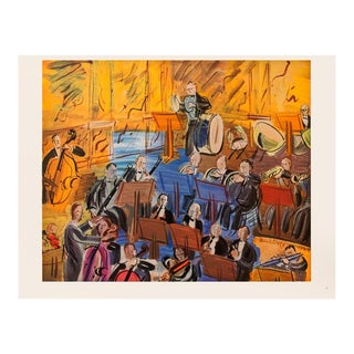 """1940s Raoul Dufy """"The Orchestra"""" First Edition Period Swiss Lithograph For Sale"""