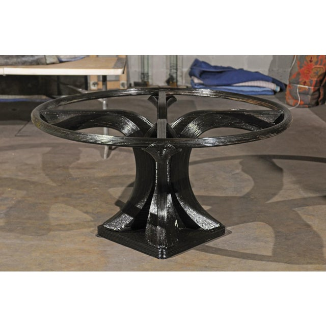Mid-Century Modern Extraordinary Trompe L'oiel Dining or Centre Table by Betty Cobonpue, circa 1980 For Sale - Image 3 of 13
