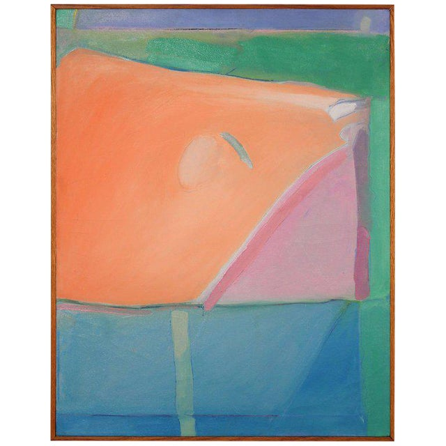 1980s Richard Diebenkorn Style Abstract Expressionism Painting For Sale