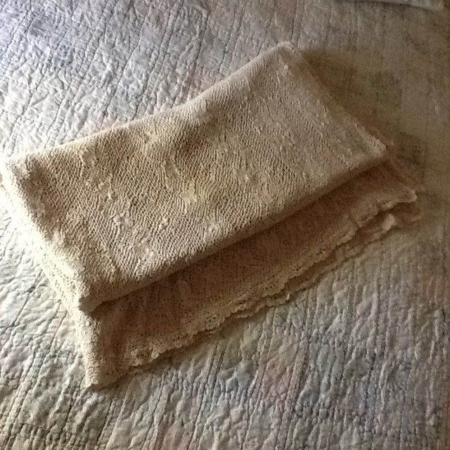 Vintage Boho Crocheted Coverlet or Tablecloth - Image 2 of 11