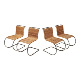 Ludwig Mies Van Der Rohe Set of Four B42 Weissenhof Chairs by Tecta For Sale