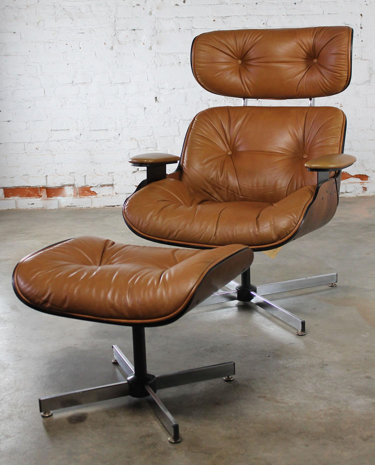 Mid Century Modern Plycraft Eames Style Lounge Chair U0026 Ottoman   Image 2 Of