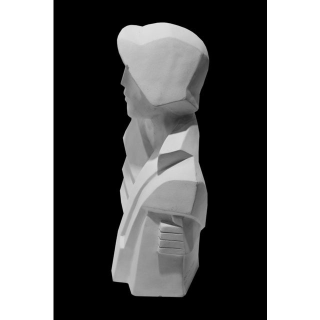 Karin Swildens White Deco Man and Woman Cast Sculptures For Sale - Image 11 of 13
