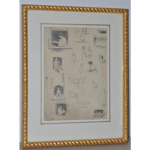 "Eugene Higgins (1874-1958) ""Family Life"" Sketches C.1920's For Sale - Image 11 of 11"