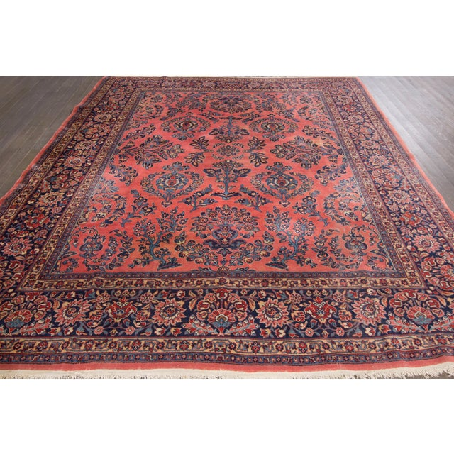 """Vintage Hand-Knotted Sarouk Rug - 8'1"""" X 10'4"""" - Image 2 of 4"""
