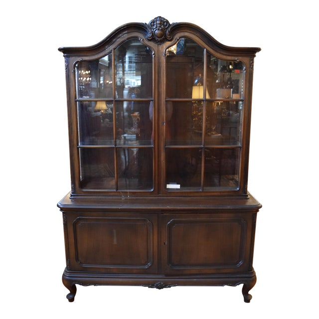 Antique French Style Mahogany Cabinet For Sale