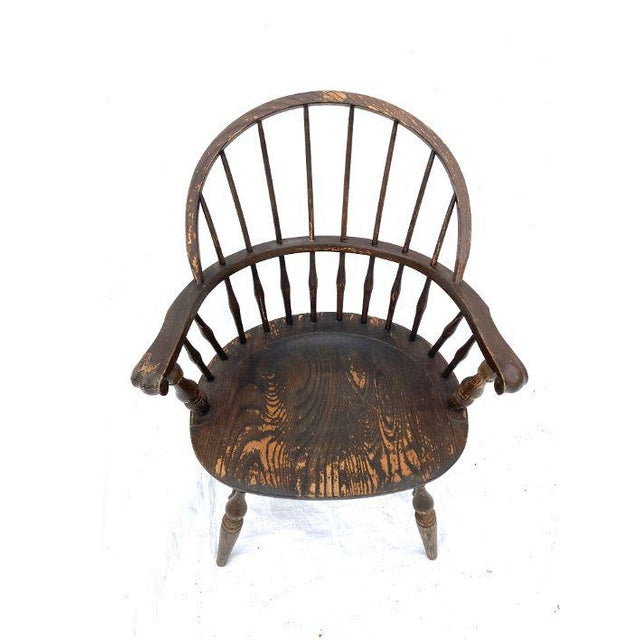 """Vintage Nichols and Stone Rockport Windsor Rustic Farm House Style Chair. Very good sturdy condition, Rustic Look! 34"""" H X..."""