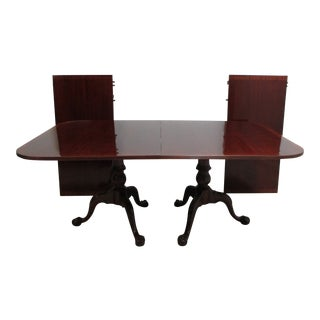 Antique Chippendale Mahogany Dining Room Table For Sale