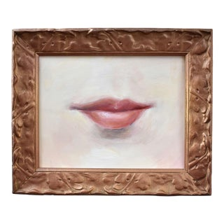 Contemporary Lover's Lips Painting by S. Carson For Sale