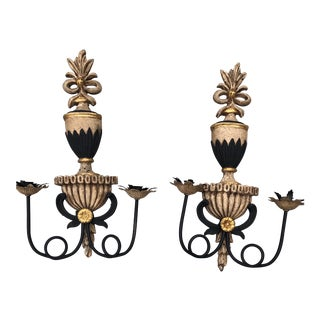 1990s Vintage John Richards Candle Wall Sconces - a Pair For Sale