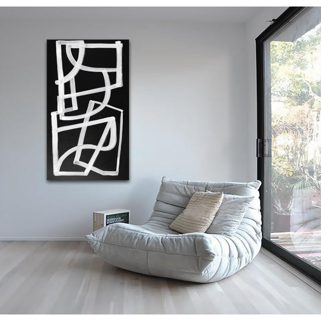 White 'Spaceboy' original abstract painting by Linnea Heide For Sale - Image 8 of 9