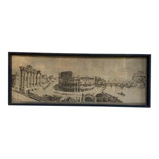 Midcentury Roman Coliseum Framed Canvas Art For Sale