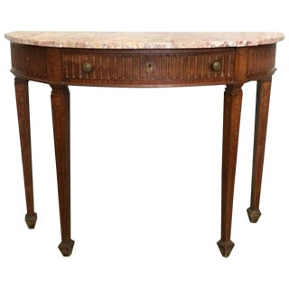 20th Century French Mahogany Console Table With Top Table and Drawer