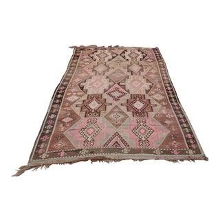 Vintage Home Decor Turkish Flatweave Floor Kilim Rug For Sale