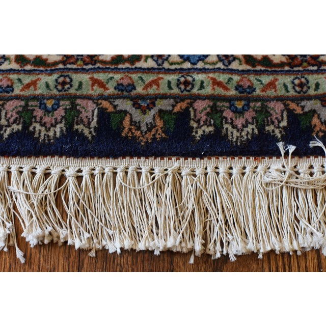 Vintage Signed Persian Tabriz Wool & Silk Rug - 6′5″ × 9′7″ For Sale In New York - Image 6 of 11
