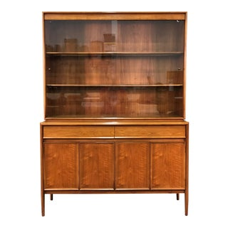 Drexel Parallel Mid-Century Modern Credenza With China Cabinet