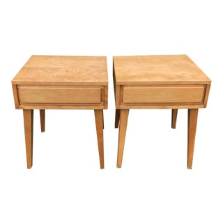 Vintage MCM Conantball Leslie Diamond Bedside End Tables - a Pair For Sale