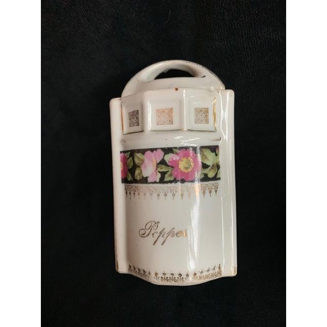 Art Deco Art Nouveau L & R Germany Spice Condiments Jars Set of 3 For Sale - Image 3 of 13