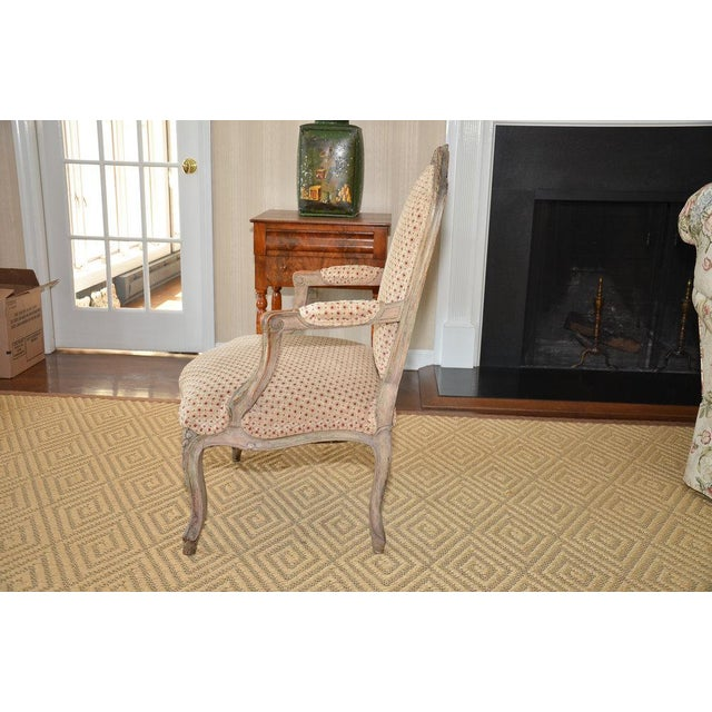 French Upholstered Bergere Chairs- A Pair - Image 5 of 10