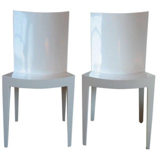 "1980s Vintage Karl Springer ""Jmf"" Chairs- A Pair For Sale"