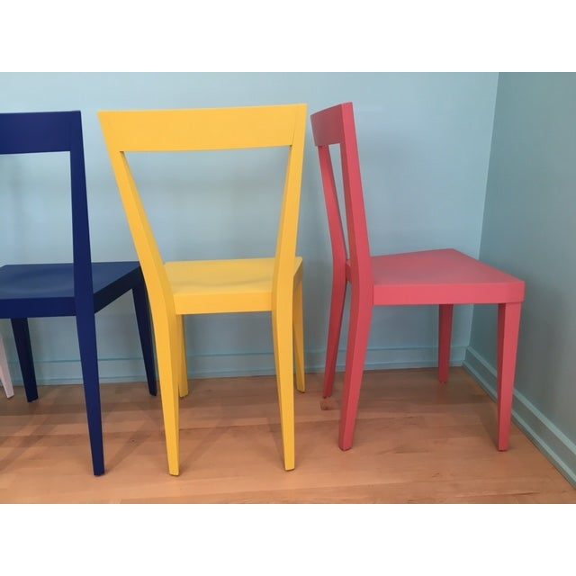 Contemporary Livia Chairs by Gio Ponti for l'Abbate - Set of 6 For Sale - Image 3 of 9