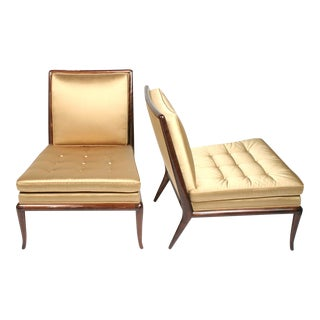 T.H. Robsjohn-Gibbings Chairs & Ottoman - Set of 3 For Sale