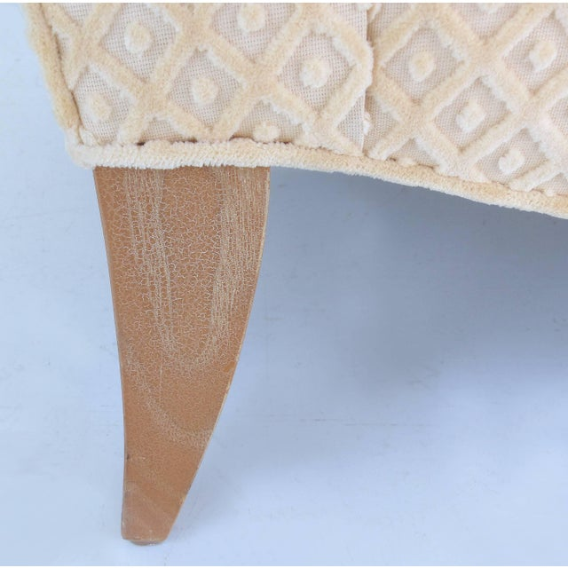 Wood Sculptural Upholstered Club Chairs Attributed to Donghia - a Pair For Sale - Image 7 of 11