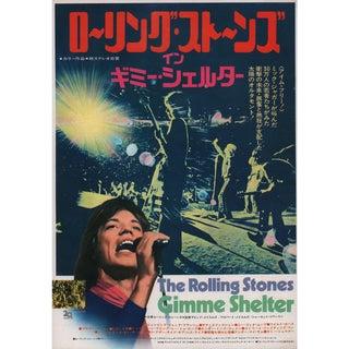 Gimme Shelter 1971 Japanese B5 Chirashi Flyer For Sale