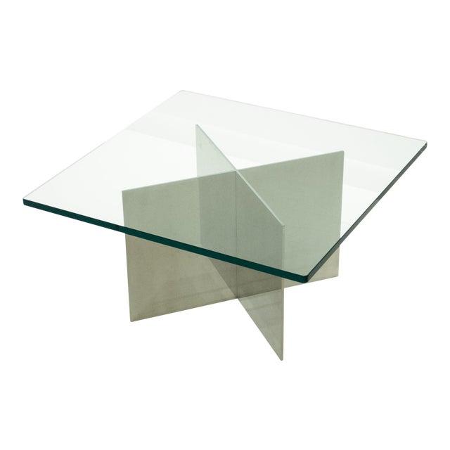 Paul Mayen Polished Aluminum Cocktail Table For Sale