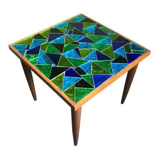 1960s Georges Briard Mosaic Side Table For Sale
