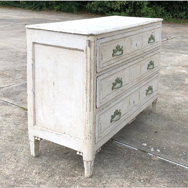 Country 18th Century French Louis XVI Painted Commode For Sale - Image 3 of 12
