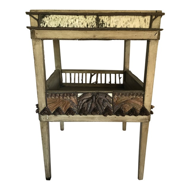 Adirondack Plant Stand or Side Table For Sale