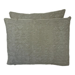 Pair of Custom Fortuny Textile Pillows For Sale