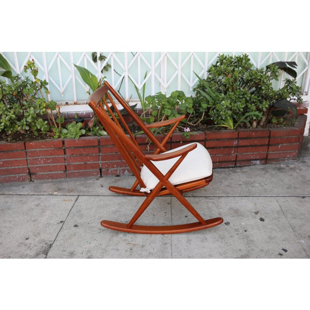 Bramin Møbler Danish Teak Rocking Chair by Reenshang for Bramin For Sale - Image 4 of 9