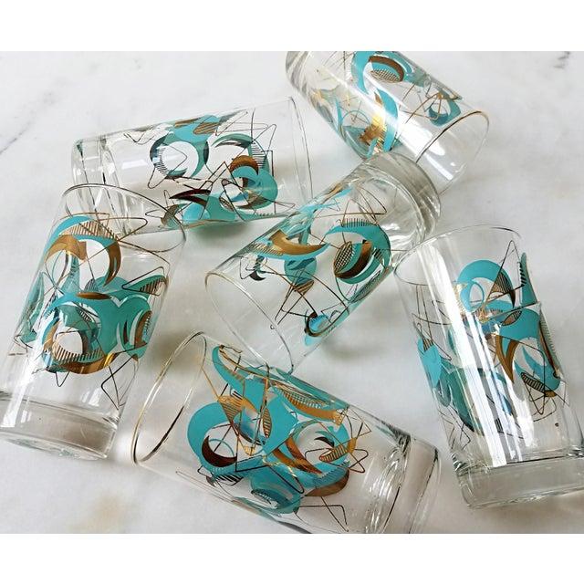 Mid Century Atomic Glasses - Set of 6 - Image 8 of 9